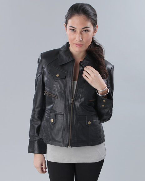 a & d 4 pocket leather jacket