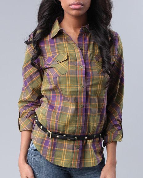 Luxirie By Lrg Women Woven Shirt - Tops