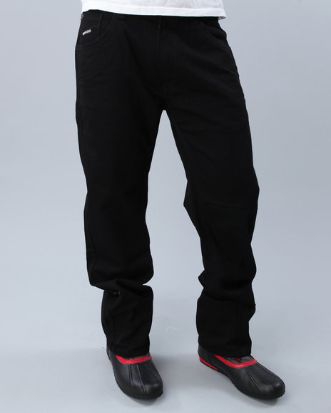 Enyce Men Black High Road Regular Denim Jeans