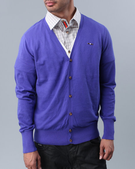 Cavi Men Blue Cabana Double-Cardigan
