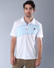 Men - Club Two-Tone-Print Jersey S/S Polo