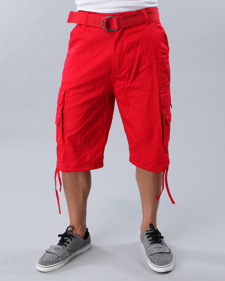 Mens Red Cargo Shorts - The Else
