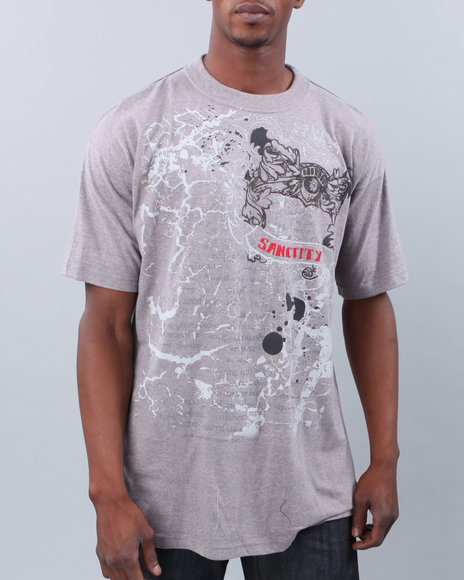 Buyers Picks Men Grey Sanctity Tee