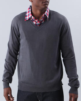 Basic Essentials - V-Neck Cotton Sweater