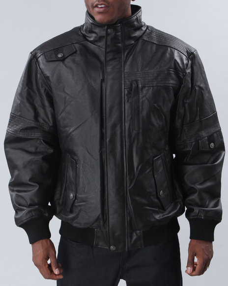 nappa leather shoulder stitch bomber, s-5x