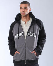 Hoodies - BROOKLYN HOODIE WITH CONTRAST SLEEVE