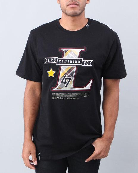 LRG Men Black L-Compadre Knit S/S Tee
