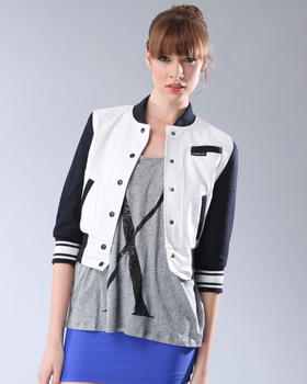 DJP OUTLET - 3/4 SLEEVE BASEBALL JACKET