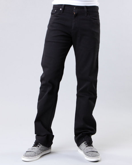 514 slim straight fit black jeans