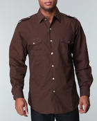 Shirts - Military Woven Long Sleeve Shirt