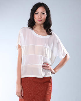 DJP OUTLET - Sheer Stripe Top