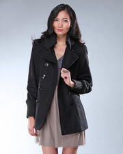 DJP OUTLET - Melton Wool Double Breasted Peacoat