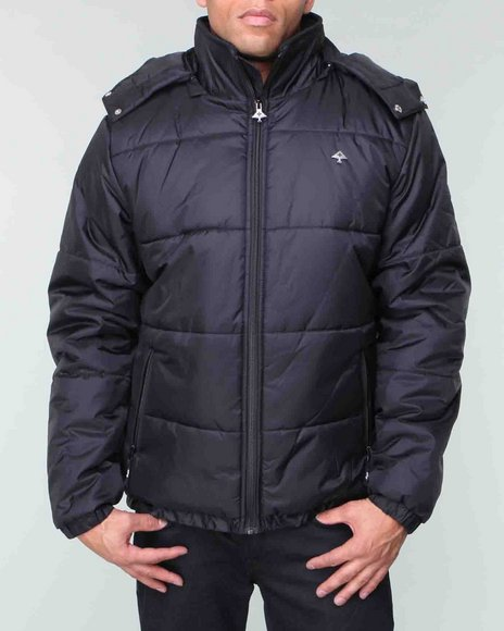 LRG Men Black,Black Core Collection Puffy Jacket