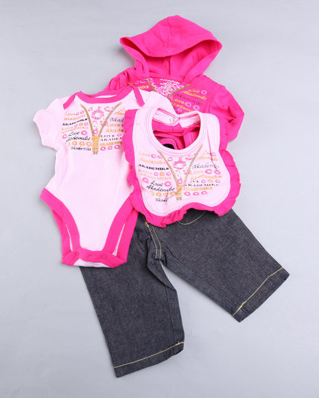 - Papyrus Butterfly 4Pc Denim Set (NB)