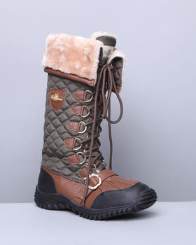 Apple Bottoms - Natalia High Quilted Fleece Lined Boot