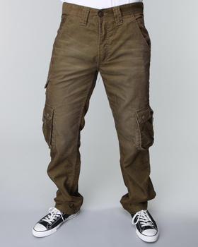 Pelle Pelle - Dark Olive Corduroy Cargo Pants
