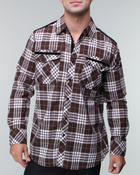 Shirts - PLAID WOVEN WITH CONTRAST PIPING