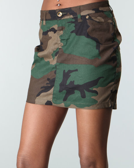 Rothco - Women Camo Rothco Woodland Camo Mini Skirt