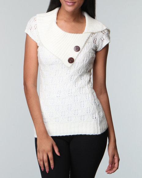 Fashion Lab White Envelope Neck Sweater