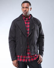 DJP OUTLET - Roadster Heavyweight Canvas Moto-Style Jacket