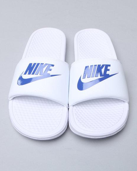 Nike Men White Benassi Jdi Sandals