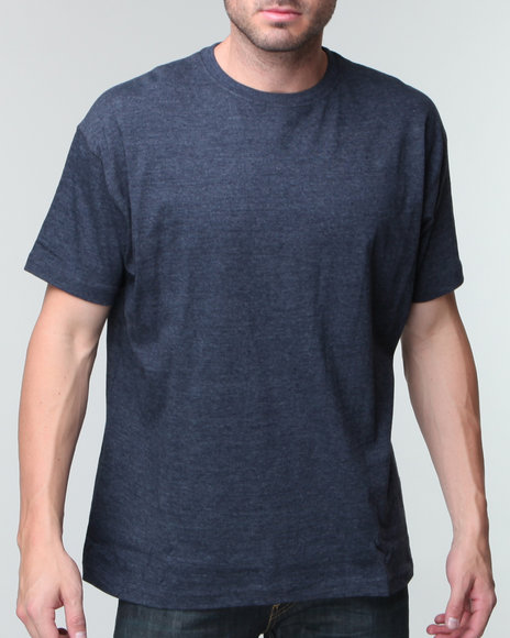 Basic Essentials Men Blue Premium Crewneck Tee