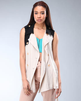 DJP Boutique - Colorblock Sleeveless Jacket