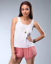 Tanks/Halters - Charlie Sleeveless Eyelet Top