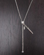 DJP OUTLET - Zipper Necklace w/Dagger