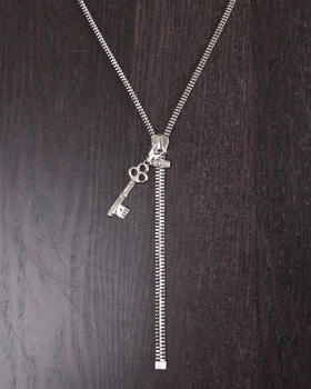DJP OUTLET - Zipper Necklace with Key