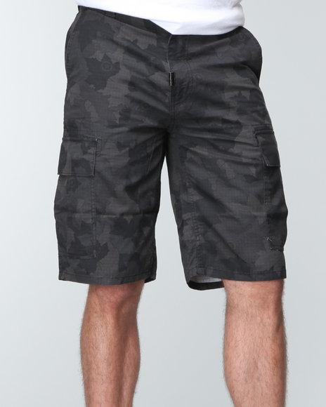 LRG Men Camo,Black Core Collection Classic Cargo Shorts