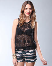 DJP OUTLET - Lundy Scallop Lace Top