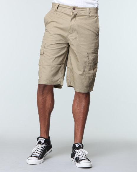 LRG Men Khaki Core Collection Classic Cargo Shorts
