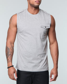 MO7 - Sleeveless Knit Shirts w/ chest patch pocket