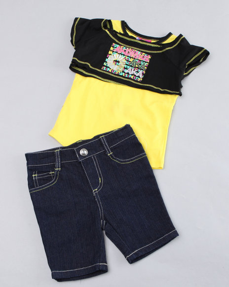 - Two-fer Top with Bermuda Pants (2T-4T)
