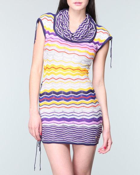 Apple Bottoms - Women Multi Stripe Sweater Dress