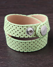 Women - Neon Perforated Leather Strap