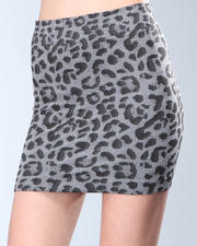 Women - Leopard Mini Skirt