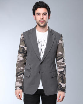 DJP OUTLET - Camo Sleeve Blazer
