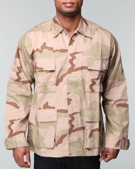 Drj Army/Navy Shop - Men Brown Rothco Desert Woodland Camouflage Bdu Shirt