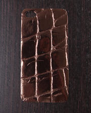 Women - Bronze Boa Premium Leather Iphone Sticker