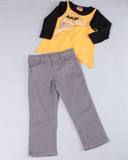 2T-4T Toddlers - 2pc Rock Star Long Sleeve and Denim (TOD)
