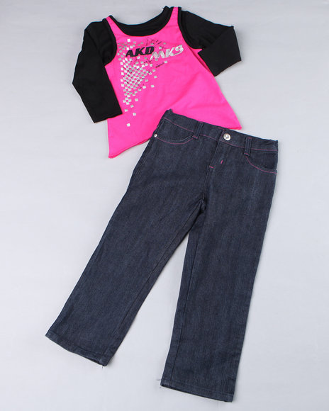 - 2pc Rock Star Long Sleeve and Denim (TOD)