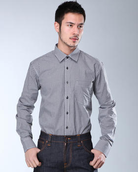 DJP Basics - Premium Micro-Gingham L/S Button-Down