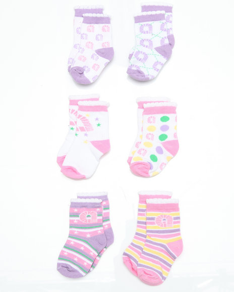- 6pk Pastel Star Socks (INF)