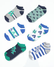 Socks - 6 pack Green, Black Stadium Socks (TOD)