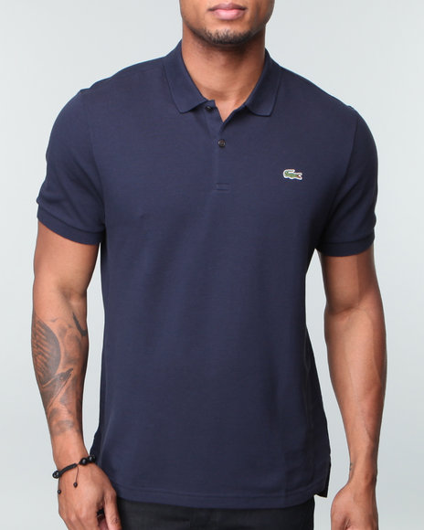 Lacoste Men Navy Live S/S Solid Pique Polo
