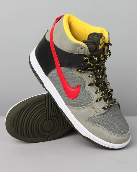Nike Boys Khaki Nike Dunk High Sneakers (Grade-school Kids)