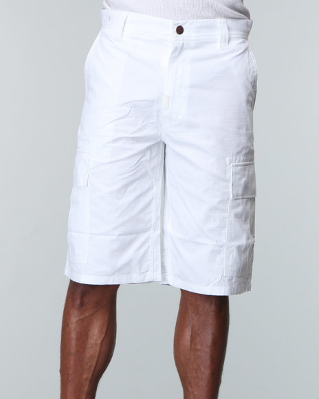 LRG Men White Core Collection Classic Cargo Shorts