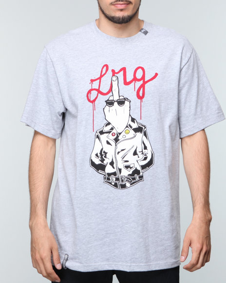 Lrg - Men Grey Bird Flips S/S Tee